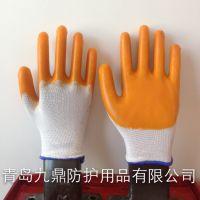 低价直销针织挂胶半胶尼龙浸胶手套耐油耐酸碱耐用木业包手指半挂