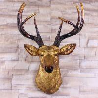 欧式鹿头壁挂壁饰 创意家居树脂工艺礼品酒店壁炉墙壁装饰品挂件
