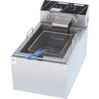 财智 LS-903 台式单缸单筛 电炸锅 炸鸡汉堡设备
