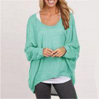 速卖通 ebay热卖 爆款毛衣 欧美宽松显瘦女装T恤多色外贸针织衫