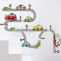 供应创意墙贴批发零售家饰装饰墙纸儿童房 卡通 交通汽车 5834 大号