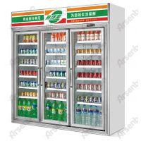 供应便利店保鲜冰柜 雅绅宝冷柜(HB17L3F) 饮料展示柜多少钱一台