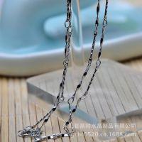不锈钢镀925银链子 DIY饰品配件 合金项链配件 水晶手链项链批发
