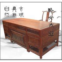 花梨木 福州定制红木家具诚招加盟 高雅中式红木书桌椅办公桌椅