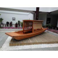 水上休闲游船 木质观光单篷船哪里有的卖