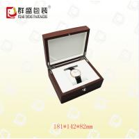 深圳厂家 直角木胚棕色皮革盒 高档手表盒 LOH-148