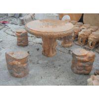 圆桌 曲阳石雕 仿古 异型石桌 曲阳雕刻 像蹲圆桌