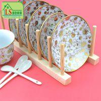 厂家直销 实木碗碟托架 厨房置物架、碗碟收纳架、滤水、沥水碗碟架、厨房用品碗碟架、收纳架、收纳整理碗