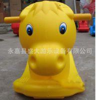 加厚装 连体组装型 儿童塑料摇摇马 儿童玩具 动物小木马 小牛