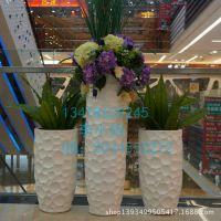 玻璃钢异形花盆组合 商场美陈奇异组合花盆 玻璃钢创意花盆厂家定做