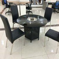 正方形火锅桌 钢化玻璃餐桌椅组合 刘一手火锅桌厂家定做