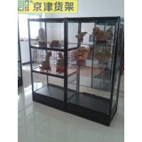 精品钛合金货架展示柜手办模型手机柜台陈列架橱窗展示架玻璃