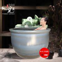 高档澡堂陶瓷洗浴泡澡缸 青瓦台直径1.1米超大洗浴大缸 洗浴大缸