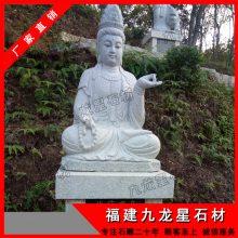 石雕白衣观音|石雕不二观音|户外观世音佛像雕刻摆件