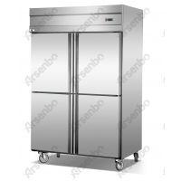 厨房制冷设备冰柜酒店厨房设备 不锈钢四门冰箱酒店餐厅用品