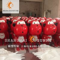 上海升美红猴子模型 专业卡通模型定制 玻璃钢雕塑