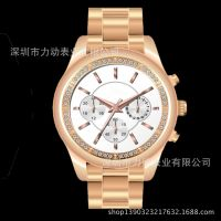 深圳手表工厂直接供应商务防水手表 高档套装礼品石英手表男款