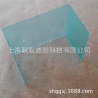 全新进口新料为基材的绿色PC塑料板折弯加工透明pc塑胶板雕刻加工