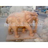 供应曲阳石雕大象 吉祥如意石头大象招财摆件 人物 动物雕塑