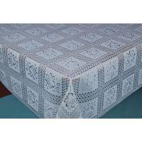 供应PVC塑料防水防滑蕾丝桌布台布