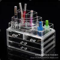 亚克力家庭用具水晶化妆盒四层抽屉透明化妆品收纳盒7511
