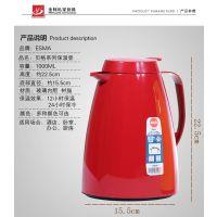 EMSA爱慕莎 德国进口贝格家用保温壶1000ml玻璃内胆大容量保温瓶