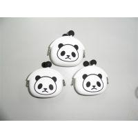熊猫硅胶零钱包 各种硅胶钱包 钥匙包silicone wallets 熊猫钱包
