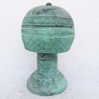 青铜青文庙祭祀礼器 登食器礼佛供奉用佛像 婚庆影视道具招财辟邪