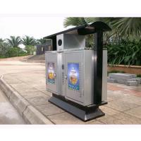 合肥卓辰ZC-LJX001不锈钢塑料垃圾桶 公园垃圾桶