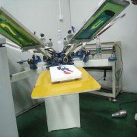 供应网印机器.六色转盘服装印花机,丝网印刷机
