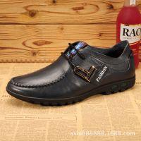 厂家直销男式真皮低帮单鞋韩版时尚日常百搭轻便系带男潮鞋批发