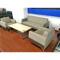 办公家具 办公沙发 会客沙发 商务茶几沙发 木扶手 简约办公沙发