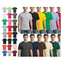 圆领纯棉短袖纯空白广告衫工作服T恤定制文化衫定做DIY印字图LOGO