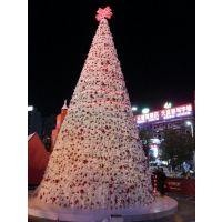 圣诞树工艺品加工 节日气氛布置装饰品 粉红星星挂水圣诞树