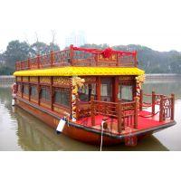 楚水厂家直销 水上餐饮船 画舫木船 观光船 电动船 服务类船出售