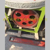 度假山庄新款摆件 豆浆石磨机 手工定做米浆石磨机尺寸