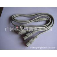 电脑主机电源线 国标电源线 国标一分二电源线 1.8米足0.5铜丝