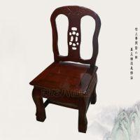 实木餐椅中式实木椅子餐桌椅 实木虎脚小靠背(红色、黄色)