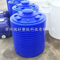 江苏10吨塑料水塔,10吨絮凝剂储罐 10立方平底水塔