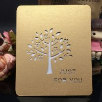 sweetmade激光贺卡精美镂空明信片 激光雕刻创意通用节日祝福卡片 贺卡