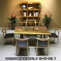 原木大板胡桃木实木大板桌南美花梨餐桌异形办公桌老板桌