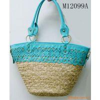 水草包 草编手袋 时尚手袋 沙滩席 沙滩包 纸绳编织包 植物编织包