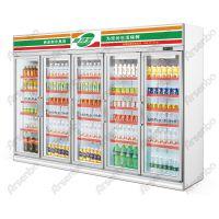 超市饮料冰箱 饮料保温展示柜 5开门饮品展示柜 雅绅宝厂家