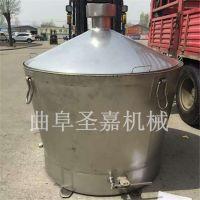 辽宁小型酿酒设备价格 液态煮酒设备 圣嘉苞米烧酒双层酒锅