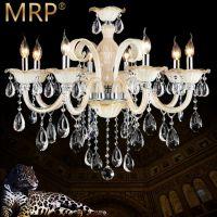 MRP厂家批发欧式水晶吊灯干邑k9蜡烛吊灯 客厅 卧室 酒店工程灯具
