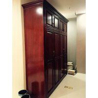 杭州丁桥家具厂专业来图定制意米娅EMY2201红色美式乡村板式衣柜橱柜