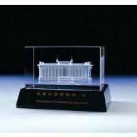 惠州公司开业纪念品 惠州大厦封顶纪念品定做 水晶内雕摆件 腾洪工艺品