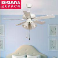 波西米亚灯具地中海风扇灯 餐厅客厅吊扇灯饰 带风扇的吊灯G069
