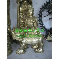 大型铸铜佛像厂家 坐骑大象狮子文殊菩萨 普贤菩萨 黄铜佛像 河北北方雕塑树林铜雕厂
