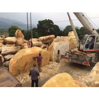 批发扬州黄蜡石,各种规格招牌石,产地批发假山石
